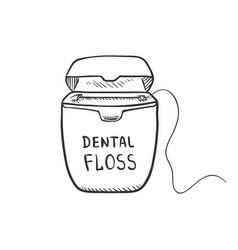 sketch - dental floss vector image