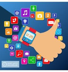 Smart watch background vector image