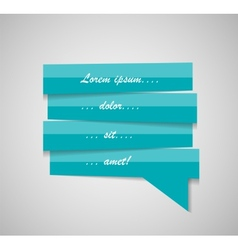 Speech Bubble Template vector image vector image