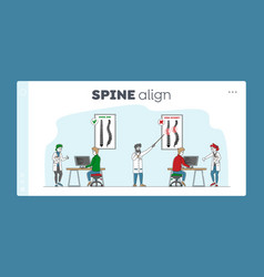 Spinal deformity scoliosis and spine backbone vector