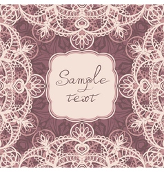 Square frame with lace vector image
