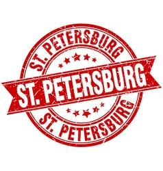 St Petersburg red round grunge vintage ribbon vector