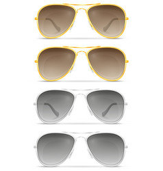 Sunglasses for men in metal frames stock vector