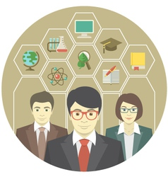 Teachers Team vector image