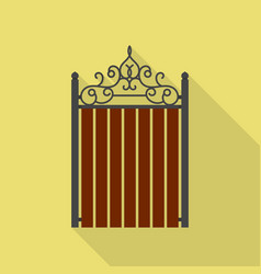 vintage wood barrier icon flat style vector image