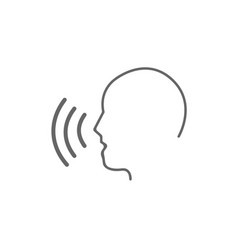 voice control icon vector image