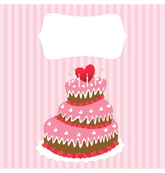 Wedding cake valentines day vector