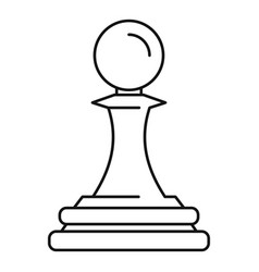 White pawn piece icon outline style vector