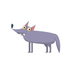 Wolf Simplified Cute vector