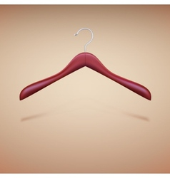 Wooden shoulder on the hanger vector image