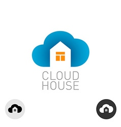 Cloud house logo Real estate building theme use vector image