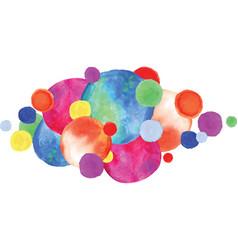 colorful watercolor circles vector image