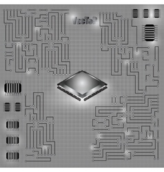Motherboard 01 vector image vector image