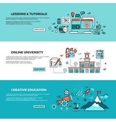 Online education on-line training courses staff vector image vector image