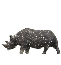 rhino stylized triangle polygonal model vector image