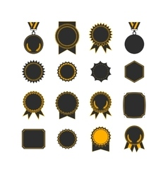 Setof medals isolated on white label designs vector image vector image