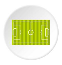 Soccer field icon circle vector