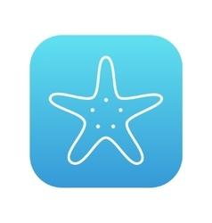 Starfish line icon vector image vector image