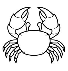 black crab vector image