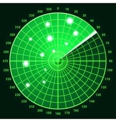 Green radar screen vector image vector image