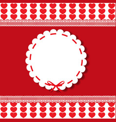 holiday round vintage template with lacy sticker vector image
