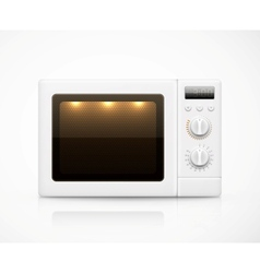 Isolated microwave vector image vector image