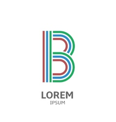 LOREM ipsum B vector image vector image