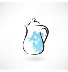 milk jug grunge icon vector image
