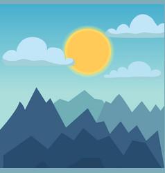Mountain nature landscape vector