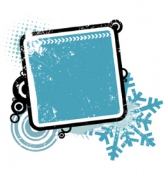 winter concept frame vector image vector image