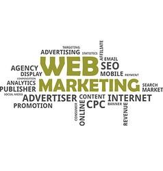 word cloud web marketing vector image vector image