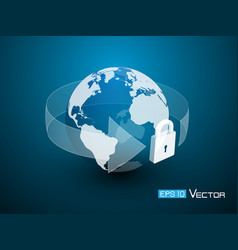world lock security vector image