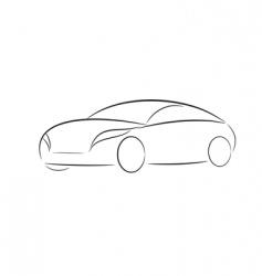 cartoon silhouette of a car vector image vector image