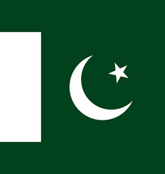 flag in colors of islamic republic of pakistan vector image vector image