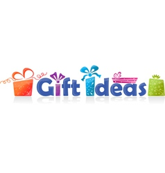 gift ideas vector image vector image
