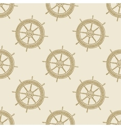 Helm vintage pattern sea naval background symbol vector image