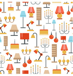 lighting seamless pattern - texture with flat vector image vector image