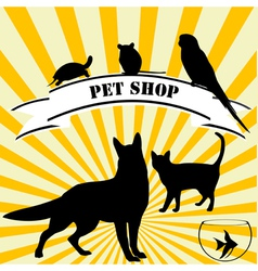 Pet shop advertising vector image