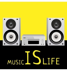 Audio system music center on white vector image vector image