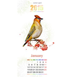 calendar for 2015 January vector image vector image