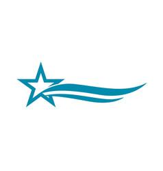 star logo template vector image