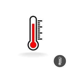 Thermometer scale sign vector image vector image
