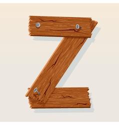 wooden letter z vector image vector image