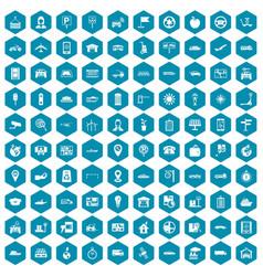 100 navigation icons sapphirine violet vector