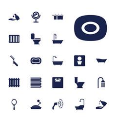 22 bathroom icons vector
