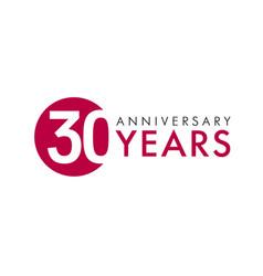 30 years logo concept vector