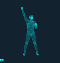 3d model of man human body wire model polygonal vector
