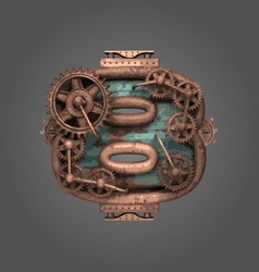 8 rusted letter with gears vector image