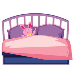 a cute children bed vector image