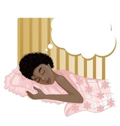 African american girl dreaming in the night vector image